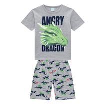 Pijama Infantil Kyly Dragão Brilha no Escuro Masculino -