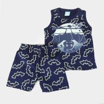 Pijama Infantil Kyly Morceguinhos Brilha no Escuro Masculino -