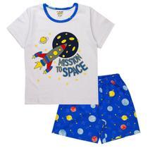 Pijama Infantil Menino Brilha No Escuro Conjunto Masculino - Fantoni