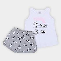 Pijama Infantil Pulla Bulla Pandinhas Feminino -