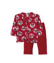 Pijama  Infantil  Soft Pingo Lelê Pinguim Vermelho -