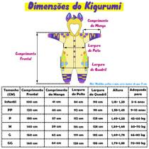 Pijama Kigurumi Unicórnio Estrelinha - Fantasia de unicórnio