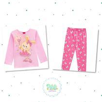 Pijama Menina Kyly em 100% Algodão Brilha no Escuro -