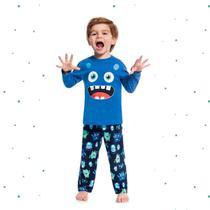 Pijama Menino Kyly em 100% Algodão Brilha no Escuro -