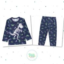 Pijama Menino Kyly em Algodão Brilha no Escuro -