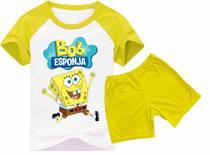 Pijama Verão Infantil Bob Esponja - Calor - Visuarte