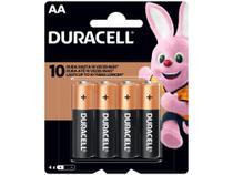 Pilha AA Pequena Alcalina 4 Unidades - Duracell -