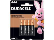 Pilha AAA Palito Alcalina 4 Unidades - Duracell -