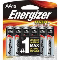 Pilha Alcalina AA 1,5V Max Energizer Cartela com 6 Pilhas -