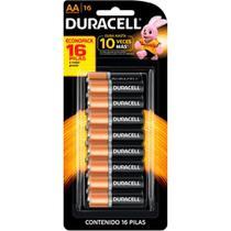 Pilha Alcalina AA Duralock Duracell Blister 16 Un -