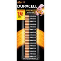 Pilha Alcalina AAA Duracell cartela com 16 pilhas -