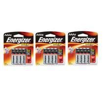 Pilha Alcalina Aaa Palito Energizer Max - 24 pilhas - 3 cartelas com 8 unid -