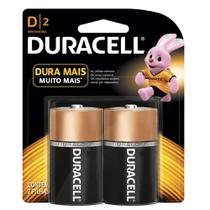 Pilha Alcalina D Grande C/2 - Duracell -