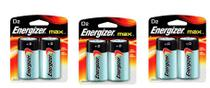 Pilha Alcalina D Max Energizer Cartela 3 Pacotes C/ 6 Pilhas -