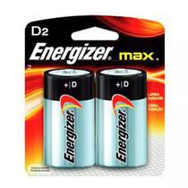 Pilha Alcalina D Max Energizer Cartela Com 2 Pilhas -