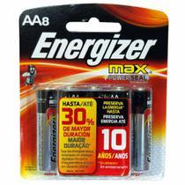 Pilha Alcalina Energizer Max AA Pequena 8 Unidades -