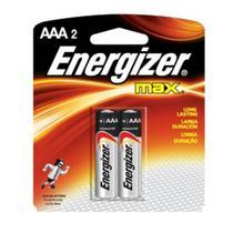 Pilha Alcalina Energizer Max AAA Palito - 2 Unidades -