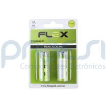 Pilha Alcalina Flex FX-AAK2 - 1,5V / AA - Embalagem com 2 Unidades - Indefinida