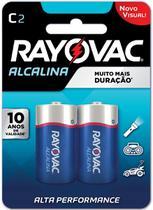 Pilha alcalina media cta 02 und rayovac dura 10x mais -