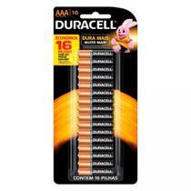 Pilha Alcalina Palito AAA Com 16 Unidades Duralock - Duracell -