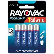 Pilha Alcalina Pequena AA Leve 4 Pague 3 - Rayovac