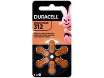 Pilha Auditiva 312 com 6 Unidades - Duracell