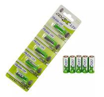Pilha Bateria Alcalina Flex 12V Cartela 5 Unid Portão Alarme -
