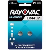 Pilha Bateria Botao LR44 1,5V. Alcalina - Rayovac