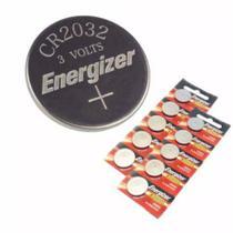 Pilha Cr 2032 Tipo Moeda Energizer Cartela C/ 10 Baterias -