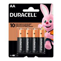 Pilha Duracell AA Alcalina 4 Unidades -