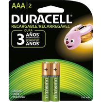 Pilha Duracell AAA Palito Recarregável 750mAh / 2 Pilhas -