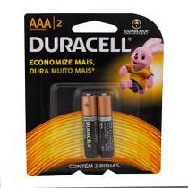 Pilha Duracell Alcalina AAA 2 unidades -