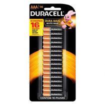 Pilha Duracell Alcalina AAA Cartela C/ 16 Unidades -