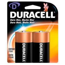 Pilha Duracell Alcalina D com 2 Unidades - MN1300B2 -