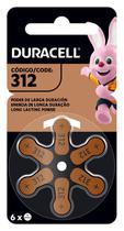 Pilha Duracell Auditiva 312 c/ 6 Unidades -
