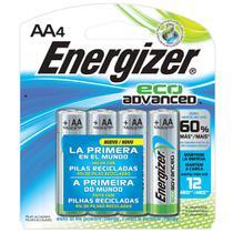 Pilha Ecologica Energizer Eco Advanced AA4 Alcalina de 1,5V -