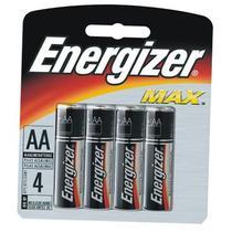 Pilha Energizer AA (LR6 - Pequena) - Cartela com 4 unidades -