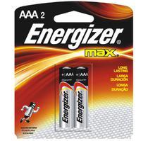 Pilha energizer palito max aaa-2 par -