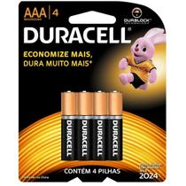 Pilha Palito AAA com 4 - Duracell -
