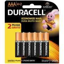 Pilha Palito AAA Leve 6 Pague 4 - Duracell -