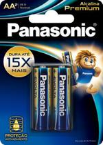 Pilha Pequena AA Alcalina Premium Panasonic - c/2 (caixa com 12 cartelas) -
