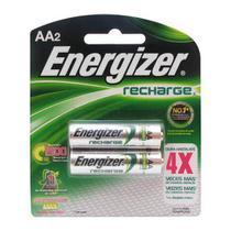 Pilha Recarregável AA 1400mah Energizer Cartela C/ 2 Pilhas -