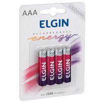 Pilha Recarregável Aaa 1000 Mah Blister Com 4 82171 Elgin -