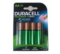 Pilha Recarregável Duracell AA 2500mah 1.2v - Pacote com 4 -