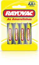Pilha Zinco Pequena AA 48BLISTERS X 4UNID. - Rayovac
