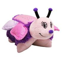 Pillow Pets Mini com Luz - Dtc Fluttery Butterfly + Pillow Pets Mini com Luz - Dtc Green Triceratops - Combo