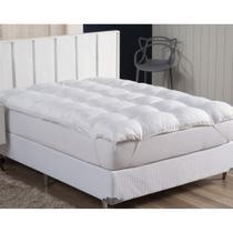 Pillow Top Casal 100% Fibra Siliconada 1600G/M² - Tecido Percal Algodão - Muito mais Conforto - Ecaza