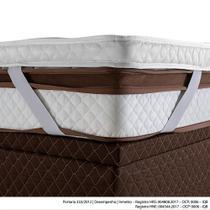 Pillow Top Casal Herval com Elástico, 9 x 138 x 188 cm -