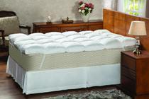 Pillow Top Casal Plumasul Fibra Siliconada em Flocos 233 fios -