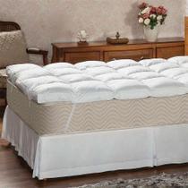 Pillow Top Casal Victor Branco - Plumasul
